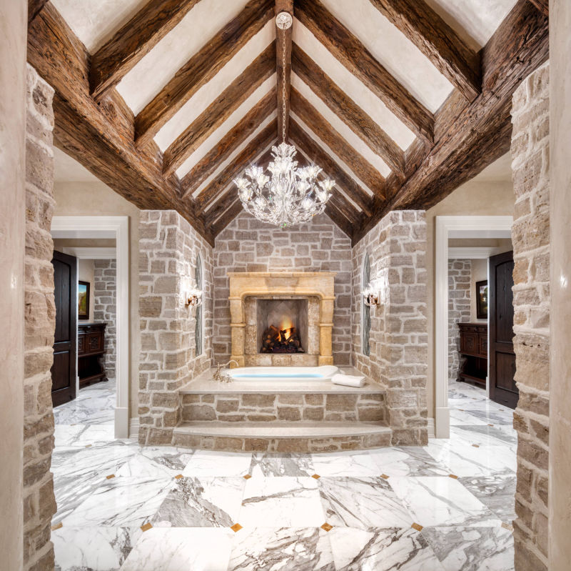 Custom Master Bath by Alan Blakely Architectural Photography
